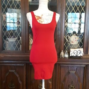Forever 21 bodycon red dress size small like new
